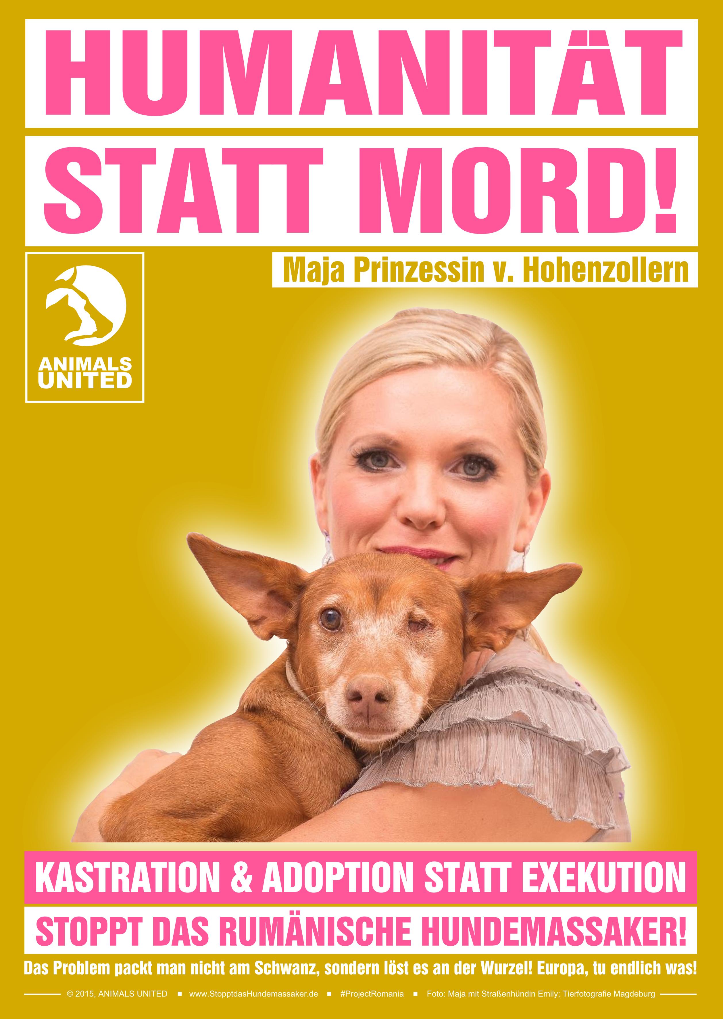 Maja Prinzessin von Hohenzollern gegen das Hundemassaker